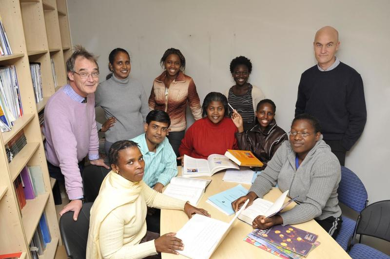 Prof Robert Wilkinson (left), group leader at the Francis Crick Institute and director of the Wellcome Centre for Infectious Diseases Research in Africa at the University of Cape Town, photographed with researchers at UCT. Robert led the proposal and will direct the Crick African Network programme.
