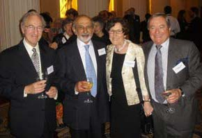 Hyam Joffe, Santilal Parbhoo, Mary Robertson and Bill Smith